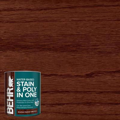 1 qt. #TIS-362 American Chestnut Satin Semi-Transparent Water-Based Interior Stain and Poly in One