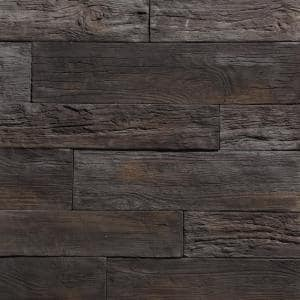 Woodstone Mocha35.50 in.x8 in.Manufactured Stone Panel Siding 8.40 sq. ft. Flats