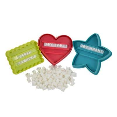 98-Piece Message In A Cookie Cutter Holiday Kit