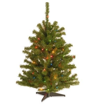 Eastern Spruce 3 ft. Artificial Christmas Tree with 50 Multi-Color Lights