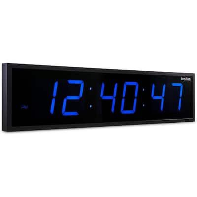 Huge Digital LED Clock - Blue (36 in.)