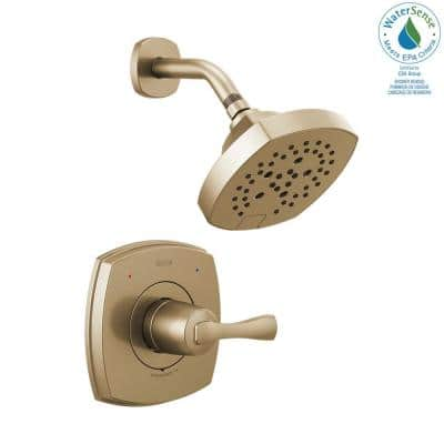 Stryke 1-Handle Wall Mount 5-Spray Shower Faucet Trim Kit in Champagne Bronze (Valve Not Included)