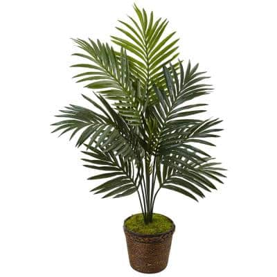 Indoor Kentia Palm Artificial Tree in Coiled Rope Planter