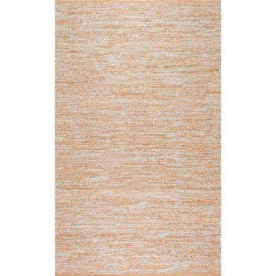Tarver Solid Jute Silver 8 ft. x 10 ft. Area Rug