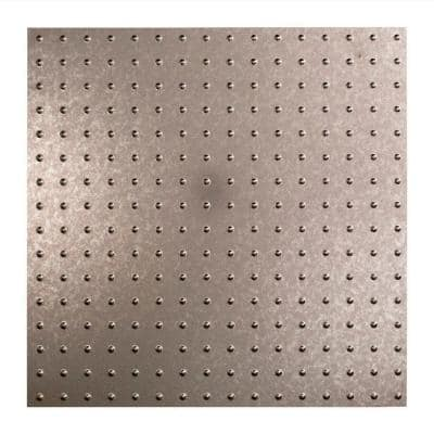 Minidome 2 ft. x 2 ft. Galvanized Steel Lay-In Vinyl Ceiling Tile (20 sq. ft.)