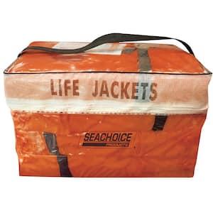 Adult Universal Type II USCGA Life Vest Pack, Orange (4-Pack)