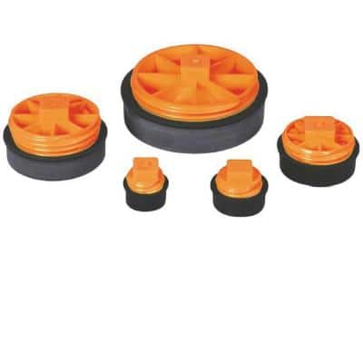 Test-Tite 86390 Combination T-Cone Test Plug, Tests 3-Inch Schedule 40 & Copper DWV Pipe and 2-Inch Cast-Iron Hub
