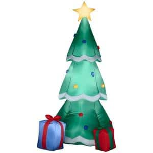 6.5 ft Pre-Lit LED Christmas Tree with Gift Boxes Airblown Inflatable