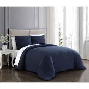 Gweneth 2-Piece Navy Twin Super Soft Comforter Set