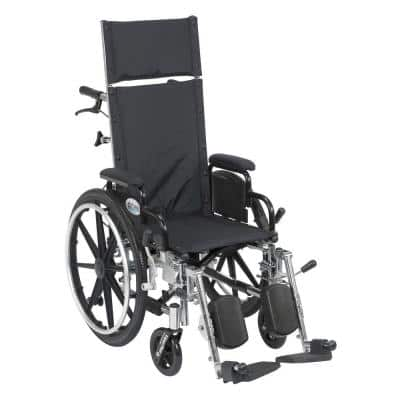 Viper Plus Reclining Wheelchair with Detachable Arms and 14 in. Seat