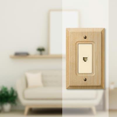 Wood 1-Gang Phone Jack Wall Plate (1-Pack)
