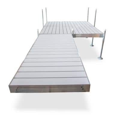 16 ft. Platform-Style Aluminum Frame with Aluminum Decking Platinum Series Complete Dock Package