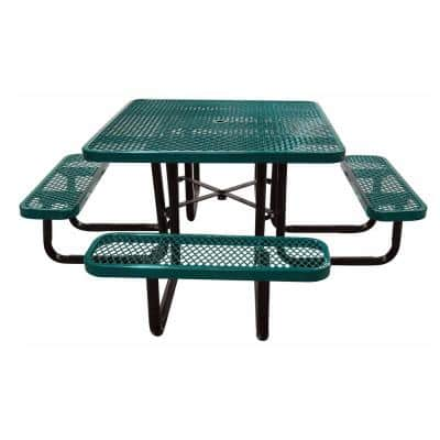 46 in. Green Square Commercial Portable Picnic Table