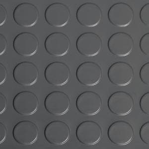 Coin 5 ft. x 10 ft. Slate Grey Commercial Grade Vinyl Garage Flooring Cover and Protector