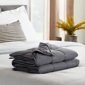 15 lbs. 48 in. x 72 in. - Full - Gray Weighted Blanket