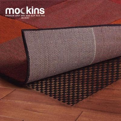 8 ft. x 10 ft. Premium Grip and Non-Slip Rug Pad in Black