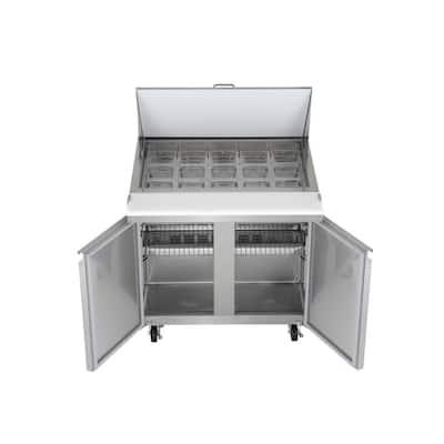 7.6 cu. ft. Mega Top Sandwich/Salad Prep Commercial Freezerless Refrigerator in Stainless Steel