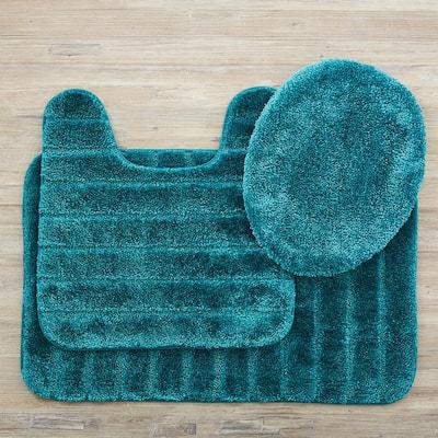 Veranda Bath Rug Teal Set
