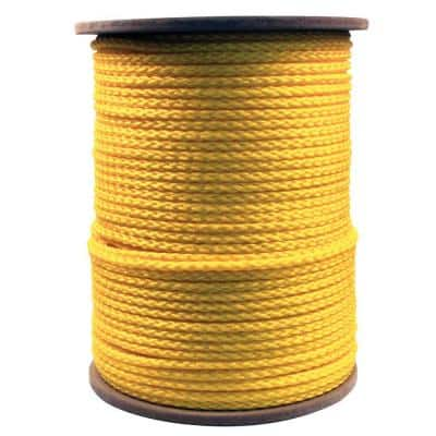 3/8 in. x 1000 ft. Hollow Braided Rope Yellow