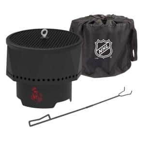 The Ridge NHL 15.7 in. x 12.5 in. Round Steel Wood Pellet Portable Fire Pit with Spark Screen, Poker - Ottawa Senators