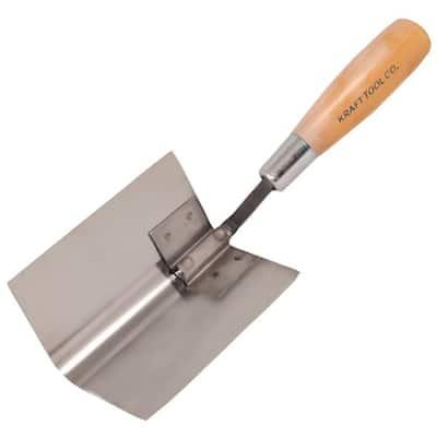 5 in. Bullnose Inside Corner Tool - Wood Handle