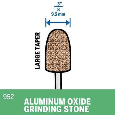 3/8 in. Rotary Tool Aluminum Oxide Arch Shaped General Purpose Grinding Stone