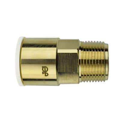 3/4 in. Brass Push-to-Connect Male Connector Fitting (5-Pack)
