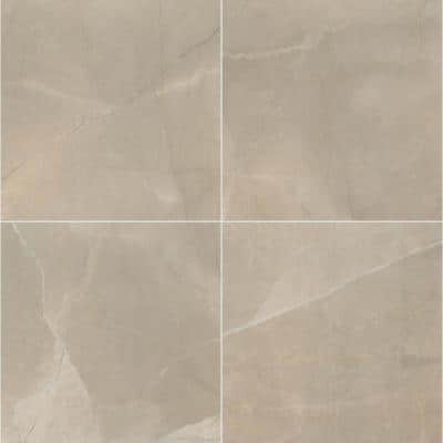 Madison Creme 24 in. x 24 in. Polished Porcelain Floor and Wall Tile (16 sq. ft./Case)