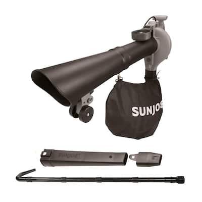 250 MPH 440 CFM 14 Amp Electric Handheld Blower/Vacuum/Mulcher with Gutter Attachment, Gray