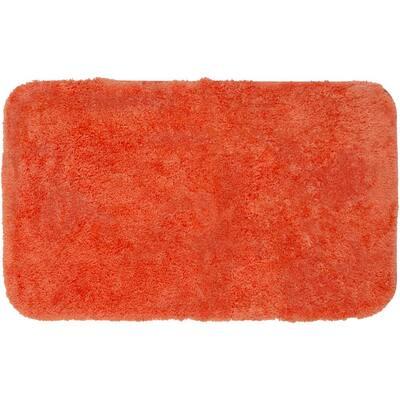 Royal Tangerine 17 in. x 24 in. Nylon Machine Washable Bath Mat