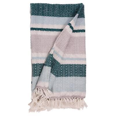 Malachite Stripe Outdoor Throw Blanket
