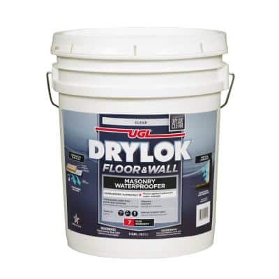 5 gal. Clear Interior/Exterior Floor and Wall Basement and Masonry Waterproofer