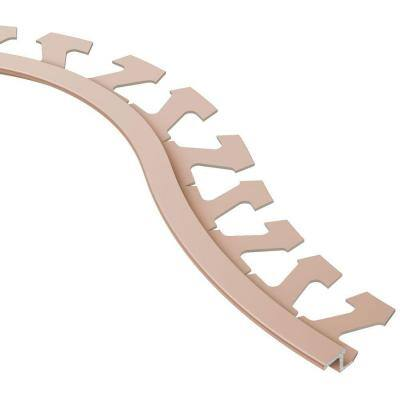 Reno-TK Satin Copper Anodized Aluminum 1/4 in. x 8 ft. 2-1/2 in. Metal Radius Reducer Tile Edging Trim