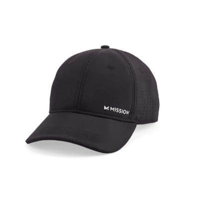 1 Size Black Fits Most Cooling Vented Performance Hat