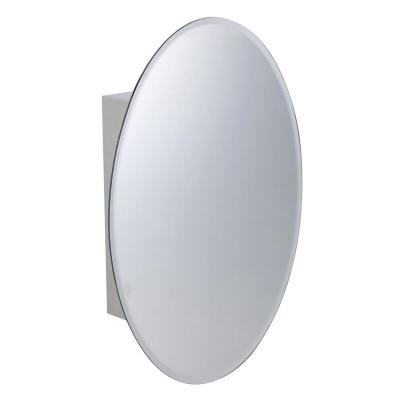 Ovally 18 in. Width x 26 in. Height Stainless Steel Recessed or Surface Mount Bathroom Medicine Cabinet