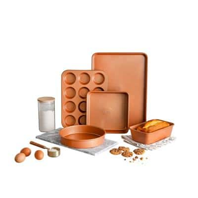 5-Piece Copper Non-Stick Ti-Ceramic Ultimate Bakeware Set