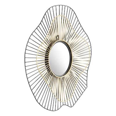 Medium Round Black Modern Mirror (22 in. H x 22 in. W)