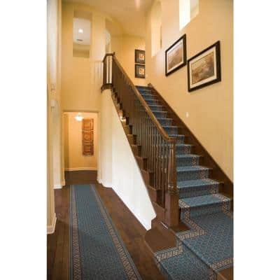 Stratford Bedford Light Blue 26 in. x Your Choice Length Stair Runner