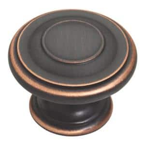 Harmon 1-3/8 in. (35 mm) Bronze with Copper Highlights Round Cabinet Knob (10-Pack)