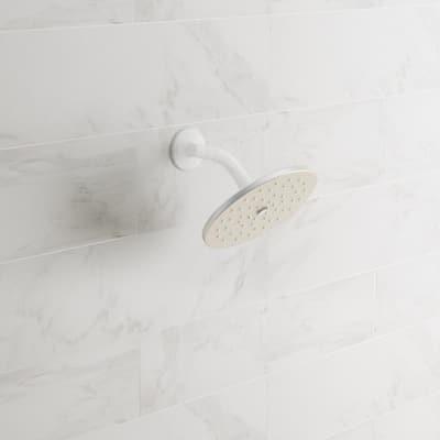 Waterhill 1-Spray 10 in. Single Wall Mount Fixed Shower Head in Brushed Nickel
