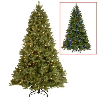 10 ft. Downswept Douglas Fir Artificial Christmas Tree with Dual Color LED Lights