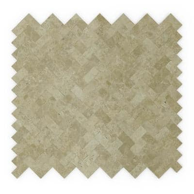 Macademia Beige 12.09 in. x 11.65 in. x 5 mm Self-Adhesive Stone Wall Mosaic Tile (11.76 sq. ft. /case)