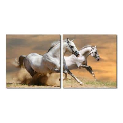 Galloping Grandeur Frameless Canvas Wall Art