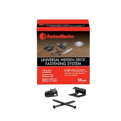 50 sq. ft. Universal Hidden Deck Fastening System