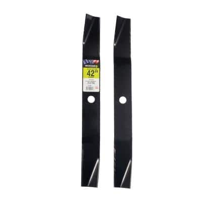 2 Blade Set for Many 42 in. Cut Murray Mowers Replaces OEM #'s 095101E701,92418 and 92418E701