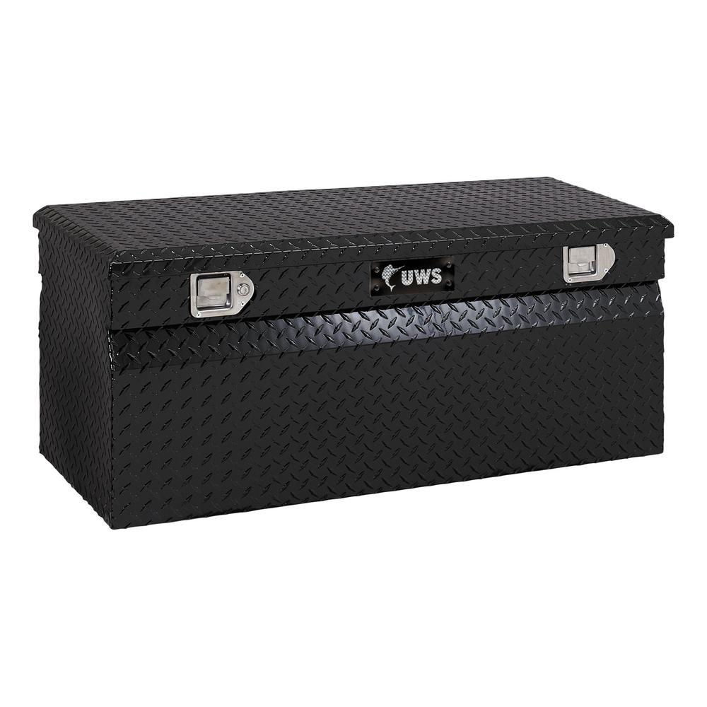 "Gloss Black Aluminum 48"" Utility Chest Box (Heavy Packaging)"