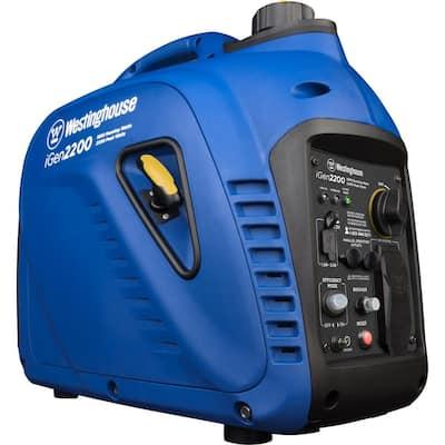 2,200-Watt/1,800-Watt Gas Powered Portable Inverter Generator with Enhanced Fuel Efficiency and Parallel Capability