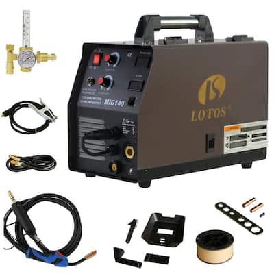 140 Amp MIG Wire Feed Welder Flux Core Welder and Aluminum Welder UNG 5/8 in. Hose Fitting Regulator 2T/4T Switch 110V