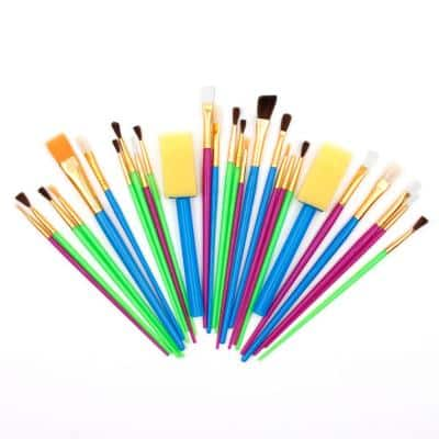 Assorted Paint Brush Set for Watercolor, Oil, Acrylic and Craft Painting (25-Pieces)