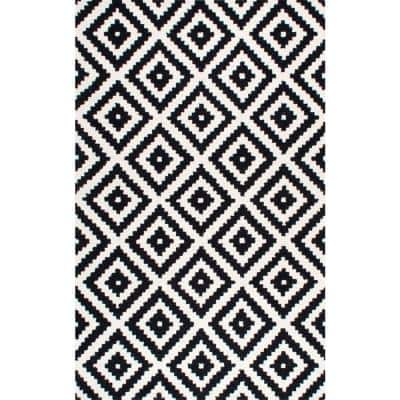 Kellee Contemporary Black 8 ft. x 10 ft. Area Rug